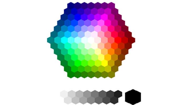 การกำหนดสีโดยใช้รหัสสี