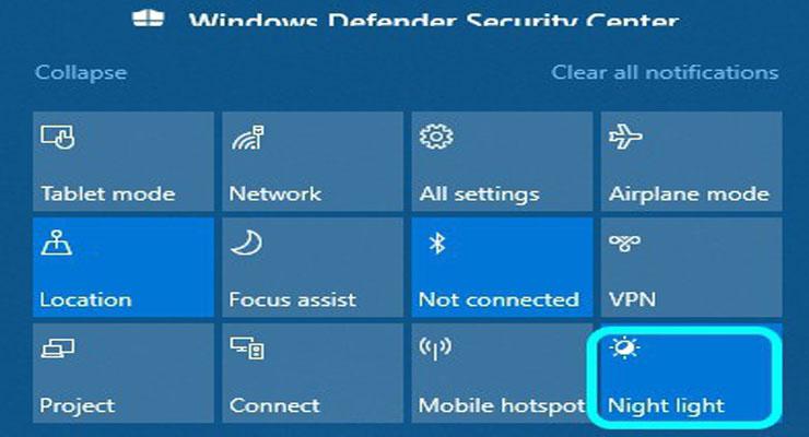 วิธีการใช้โหมดกลางคืน-Night-Light-ป้องกันแสงสีฟ้าบน-Windows-10